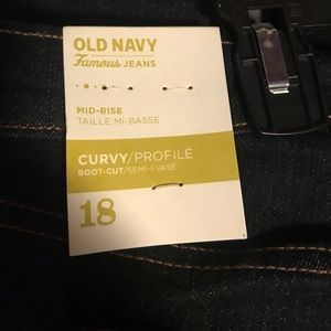 Old Navy Curvy fit jeans. NWT.